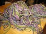 formerly a skein of yarn