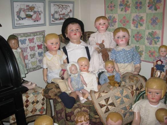 """Martha Chase"" dolls sitting comfortably"